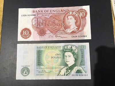 £6 • Buy 2x Old Bank Of England Notes Ten Shilling Note 1xOne Pound Note Fforde Somer