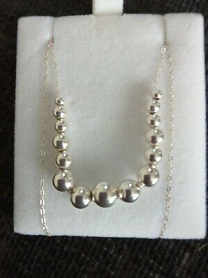 £3.42 • Buy Silver Avon Ball Necklace With 18  Chain, Branded With 925