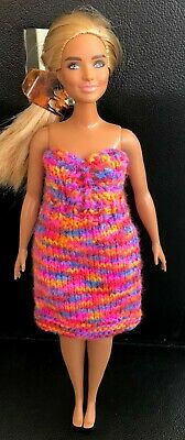 £1.50 • Buy  Knitted Strapless Dress,  - To Fit Curvy Barbie Size Doll (#529) P&p Combined