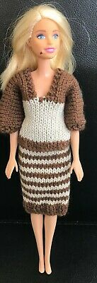 £2.25 • Buy Hand Knitted Skirt And Matching Top - To Fit Barbie Size Doll (#530)
