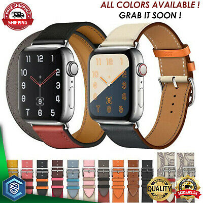 $ CDN7.51 • Buy Leather Strap For Apple Watch Band 38/40/42/44mm IWatch Series 6 5 4 3 2 1 SE