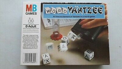 £6 • Buy Vintage 1981 MB Games Word Yahtzee Complete Excellent Condition Family Fun