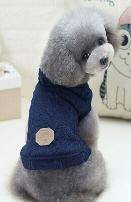 £10.80 • Buy Dog Puppy Jacket With Hoodie - Small Breeds - Navy Blue