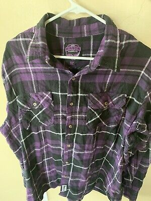 $9 • Buy Angry Minnow Flannel Company Men's Shirt Long Sleeve Button Up NBALAB
