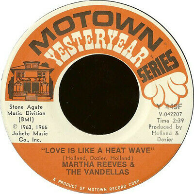 £20.99 • Buy Martha Reeves & The Vandellas - Love Is Like A Heat Wave / Come And Get These...