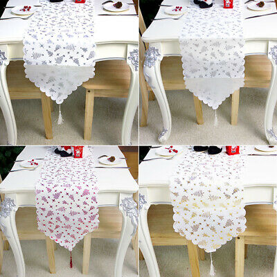AU14.78 • Buy Printing Dining Room Christmas Table Runner Home Decor TableCover With Tassel