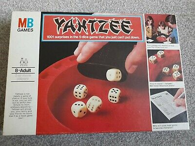 £10.70 • Buy YAHTZEE DICE GAME Original 1976 MB Games Family , Good Condition