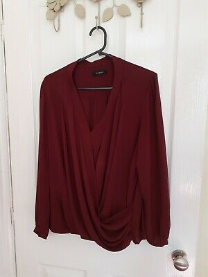 £5.19 • Buy Marks And Spencer's Autograph Brick Coloured Wrap Over Blouse Size 16