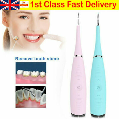 £5.88 • Buy Electric Sonic Dental Scaler Plaque Tartar Calculus Remover Tooth Stains Tools