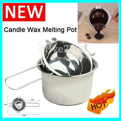£7.55 • Buy 2PCS Wax Melting Pot Stainless Steel Double Boiler For DIY Candle Soap Making