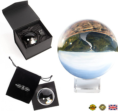 £12.99 • Buy Clear Crystal Ball   K9 Glass Lens Photo Sphere   Includes Box, Stand, Cleaning