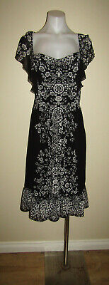 AU11 • Buy City Chic Size S Approx 16 Evening Dinner Party Casual Floral Print Dress