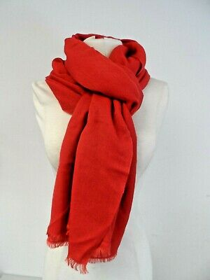 AU11.12 • Buy John Lewis Red Cashmere/Silk Mix Light Woman's Scarf  A100