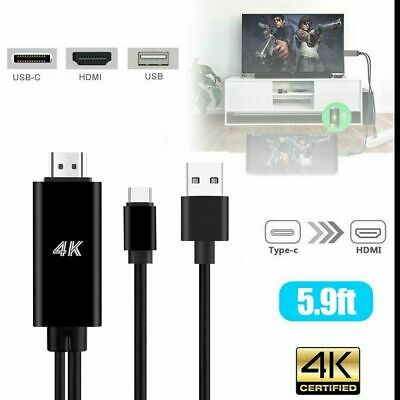 $15.99 • Buy USB-C Type C To HDMI HDTV TV Cable Adapter For Samsung S8 HUAWEI Lenovo MacBook