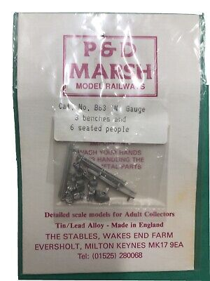 £4.50 • Buy P&D Marsh N Gauge N Scale B63 Benches And Seated People Castings Need Painting
