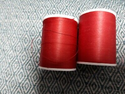 £2.20 • Buy 2 X Coats Red Hand Quilting Egyptian Cotton Reels 228m Each Reel
