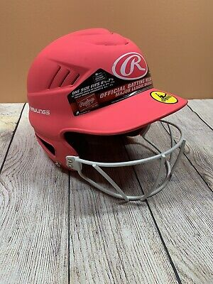 $19.99 • Buy Rawlings Pink Fastpitch Softball Face Guard Helmet Fits 6.5-7.5