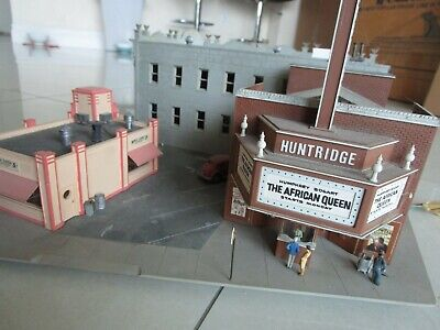 $ CDN223.98 • Buy Vintage Pro Built HO 1/87 City Block Buildings Stores For Train Layout Detailed