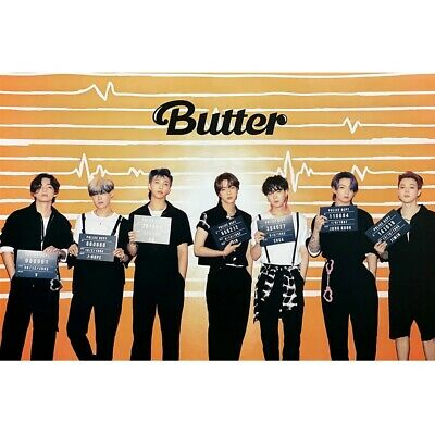 $6 • Buy BTS Butter Cream Version Official Folded Poster