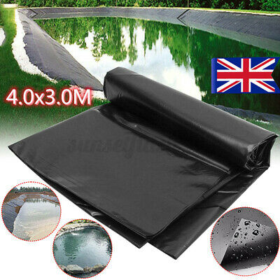 £9.50 • Buy 40 Year Guarantee Strong Fish Pond Liners Garden Pool Membrane Landscaping 4x3M