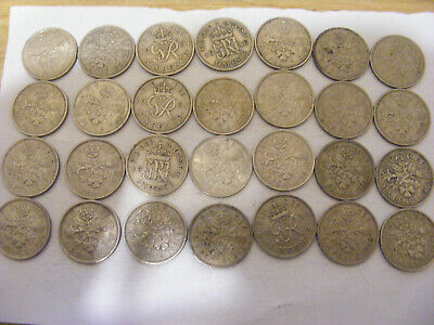 £1.25 • Buy A Collection Of 28 George VI And Elizabeth Sixpence Coins - Nice Condition