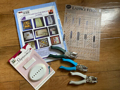 £6.99 • Buy Craft Bundle Craftroom Clearout Including Punches And Ribbon Maker