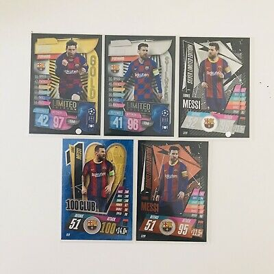 £3.31 • Buy Lionel Messi Collectible Card Bundle Topps Match Attax 100 Club Limited Edition
