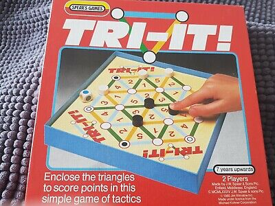 £2 • Buy VINTAGE TRI IT! BOARD GAME - SPEAR'S GAMES 1985  MADE In ENGLAND