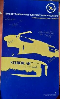 £75 • Buy STEREOLAB  Transient Random  Beautiful AUTOGRAPHED US Promo Poster 57 X 33cm VG