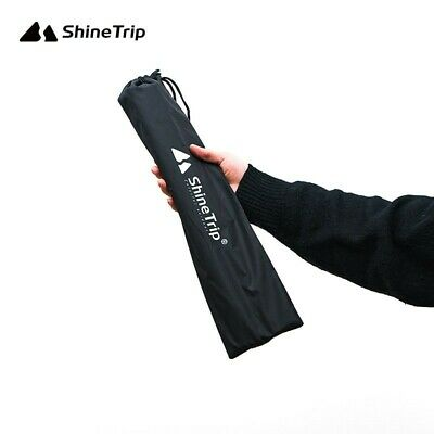 AU9.42 • Buy Pull Cord Tent Pole Bag Black Camping Outdoor Canopy Walking Stick Durable