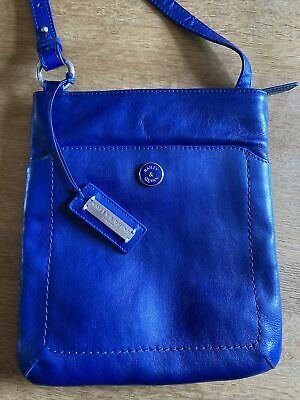 £10 • Buy Bailey & Quinn Ladies Blue Leather Messenger Bag Ideal Wedding, Holiday Etc