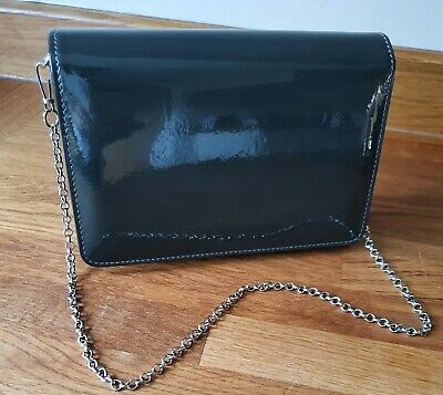 £20 • Buy Hobbs Pewter Patent Leather Shoulder Bag With Dust Bag. Perfect Condition