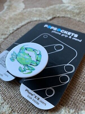 AU10.86 • Buy Popsockets Phone Grip Stand Holder- Blue Crab - New