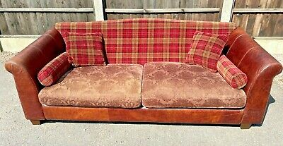 £495 • Buy HALO Extra Large Tartan Cloth And Leather Feature Sofa