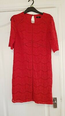 £2.50 • Buy Lovely Red Lace Mini Dress Size 10 Summer Work Party