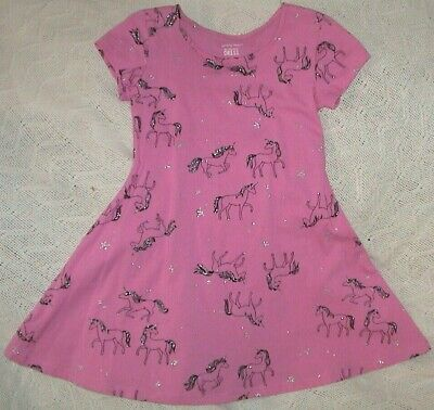 AU8.14 • Buy Jumping Beans Pink Short Sleeved Dress With Unicorns-girls Size 4-nwt