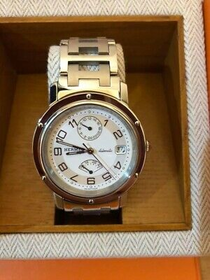 £936.62 • Buy Used Authentic Hermes Clipper Cl2.810 Automatic Watch