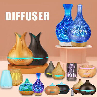 AU19.59 • Buy Aroma Aromatherapy Diffuser LED Essential Oil Ultrasonic Air Humidifier Purifier