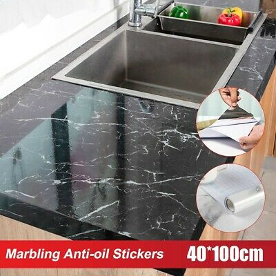 £7.42 • Buy Self-Adhesive  Marble Effect Tile Wall Sticker Kitchen Furniture Wall Cover