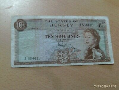 £7.95 • Buy States Of Jersey  10/- Ten Shilling Note 1960's  Padgham A Prefix  A564416
