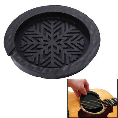 £3.69 • Buy Acoustic Guitar Sound Hole Cover Rubber Musical Guitar Accessory Black TwJ HB