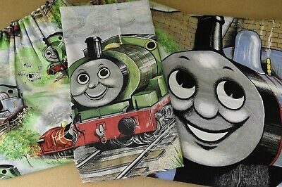 £22.50 • Buy Thomas The Tank Engine Curtains Duvet Cover Pillow Case Bedroom Set 80's VGC