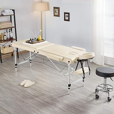 £69.99 • Buy New Portable Fold Massage Table Beauty Bed Massage Therapy Couch Facial SPA