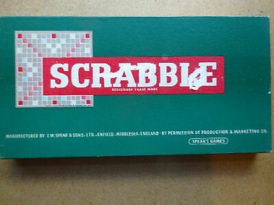 £5 • Buy VINTAGE  SCRABBLE  BY SPEARS GAMES (1950s) COMPLETE AND IN EXCELLENT CONDITION.