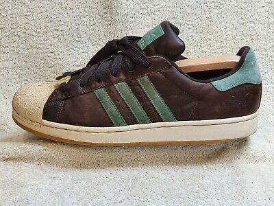 $ CDN8.62 • Buy Adidas Superstar II TL Mens Trainers Leather Brown/Green/White UK 10 EUR 45