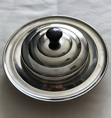 £4 • Buy Vintage Silver Plated Art Deco Butter Dish C.1930's