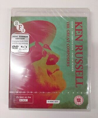 £12.99 • Buy Ken Russell: The Great Composers Blu Ray+ DVD+ Booklet- 3 Disc (NEW & SEALED)