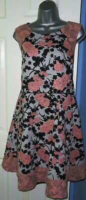 £4.50 • Buy ✿Ladies OASIS Multi Floral Print Lined Jacquard Fit Flare Dress Size 16✿