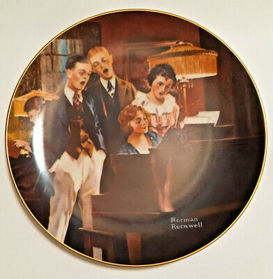 """$ CDN3.76 • Buy Norman Rockwell """"Close Harmony"""" Collector Plate"""