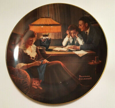 """$ CDN3.76 • Buy Norman Rockwell """"Father's Help"""" Collector Plate"""